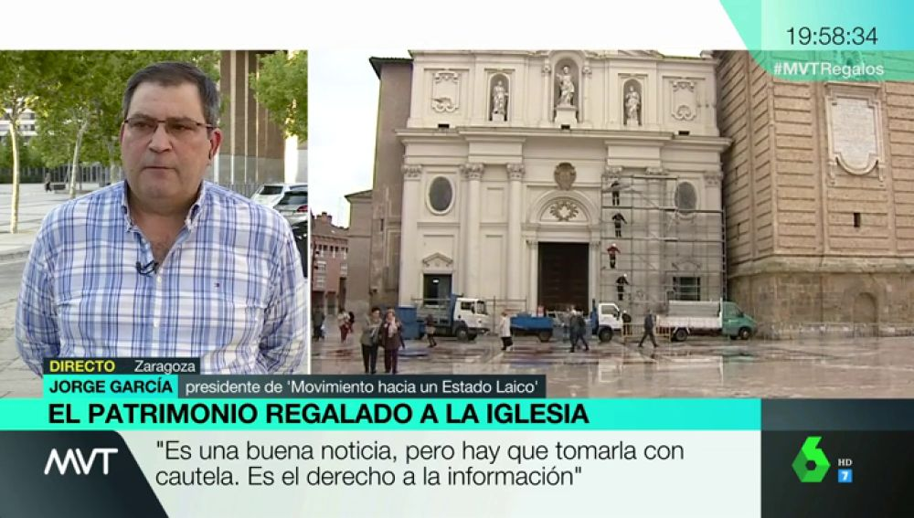 """Jorge García, sobre la publicación de las inmatriculaciones: """"Ha habido connivencias entre ciertos poderes del Estado y la jerarquía de la iglesia católica"""""""