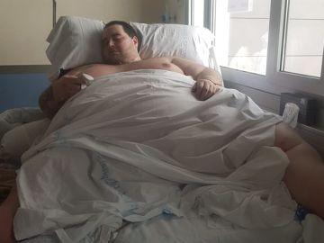 Teófilo Rodríguez en el hospital.