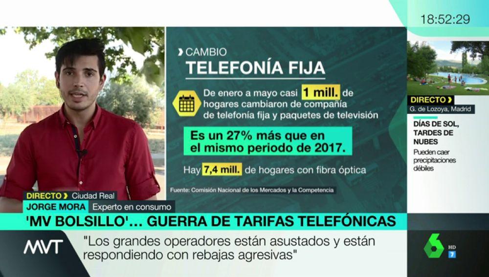 """Guerra en las tarifas telefónicas: """"Llevamos años de subidas injustificadas diciendo que están aumentando los servicios"""""""