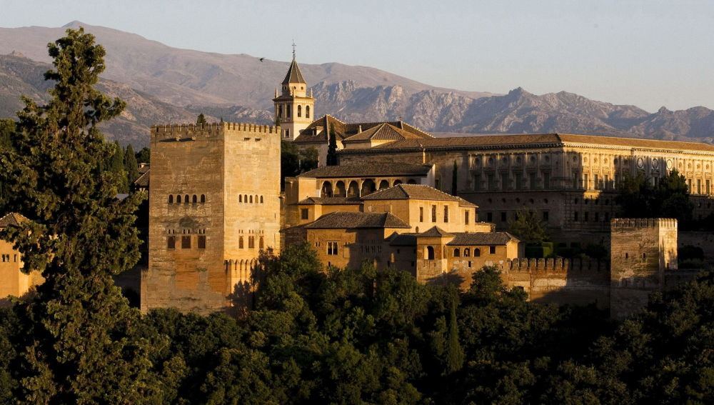 Vista panorámica de la Alhambra de Granada