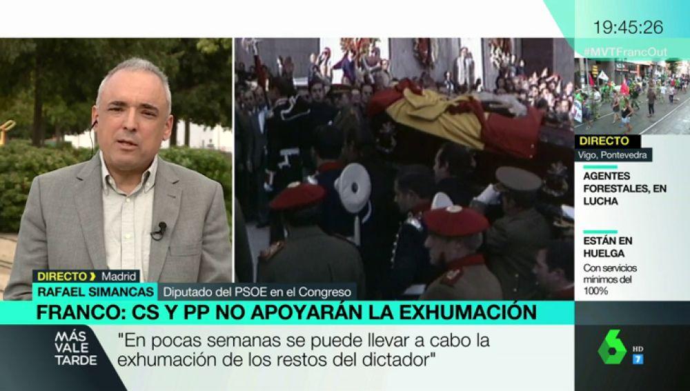 """Rafael Simancas: """"En pocas semanas se puede llevar a cabo la exhumación del dictador"""""""