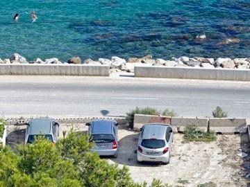Imagen del lugar en el que han asesinado a un hombre en Alicante