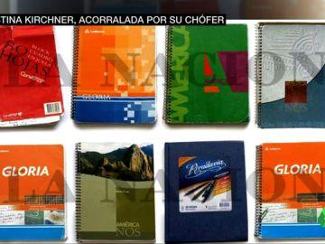 Cristina Fernández de Kirchner, acorralada por los cuadernillos infantiles de su chófer