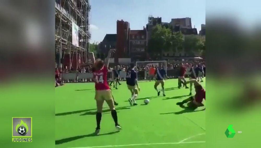 fútbol baile