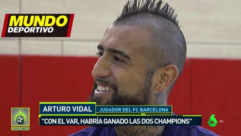 """Arturo Vidal: """"Con el VAR, habría ganado dos Champions"""""""