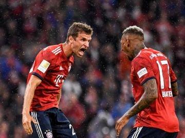 Jugadores del Bayern celebrando un gol