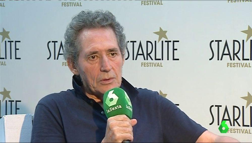 Miguel Ríos hablando con laSexta