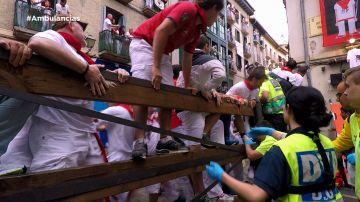 Ambulancias en San Fermín
