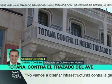"""Diego Conesa, sobre las protestas de Totana contra el trayecto del AVE: """"Tenemos un compromiso con los vecinos y seguiremos escuchándoles"""""""