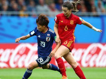 Momento de la final entre España y Japón