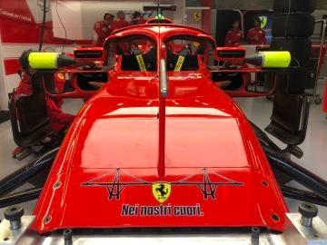 Homenaje de Ferrari a las víctimas del Puente de Génova