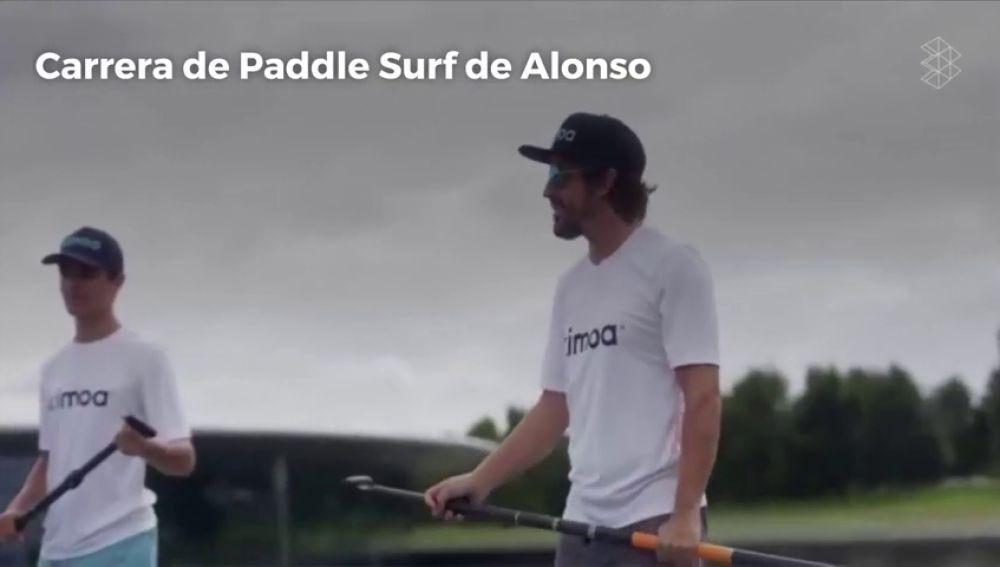 """La emocionante carrera de Paddle Surf de Fernando Alonso: """"En verano pienso en mi hogar en España"""""""