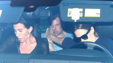 Ben Affleck durante el trayecto al centro de desintoxicación