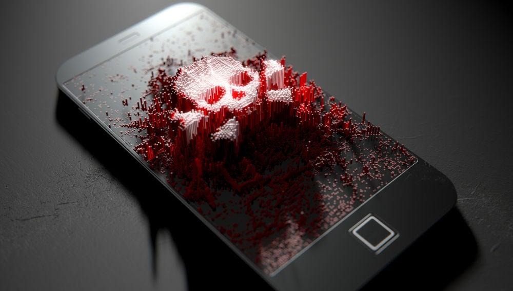 Virus en un dispositivo móvil