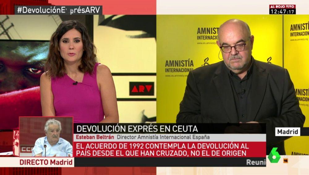 """Esteban Beltrán: """"Nos sorprende que argumenten que hay garantías de asistencia cuando hablamos de 24 horas y 116 personas expulsadas"""""""