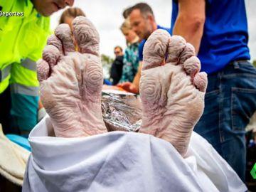 El sobrehumano reto del nadador Maarten Van der Weijden para la luchar contra el cáncer