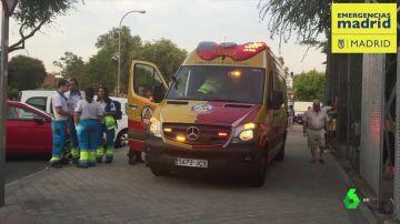Imagen de una ambulancia en Madrid