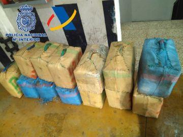 Droga incautada en una operación contra el narcotráfico en Canarias