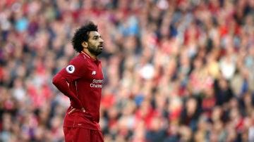 Salah, con el Liverpool