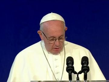 El papa Francisco durante su visita a Berlín