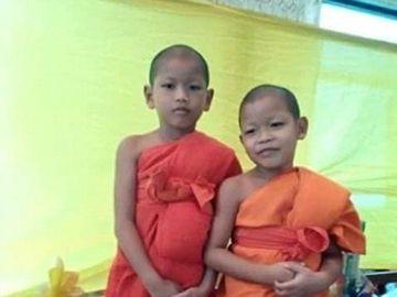 A la izquierda el niño asesinado