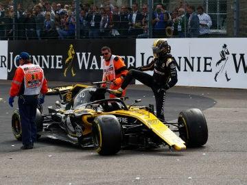 Nico Hulkenberg, tras el accidente en el GP de Bélgica