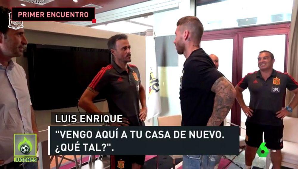 Luis Enrique y Sergio Ramos tuvieron su primer encuentro en la Selección