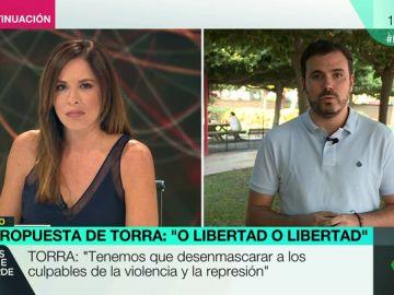 """Alberto Garzón defiende el diálogo con Cataluña: """"Hay que intentar que este proceso no suponga una vía unilateral a la independencia"""""""