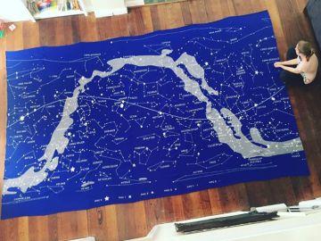 Imagen de la Vía Láctea. Se usaron 15 kilos de lana y unas 100 horas de trabajo.