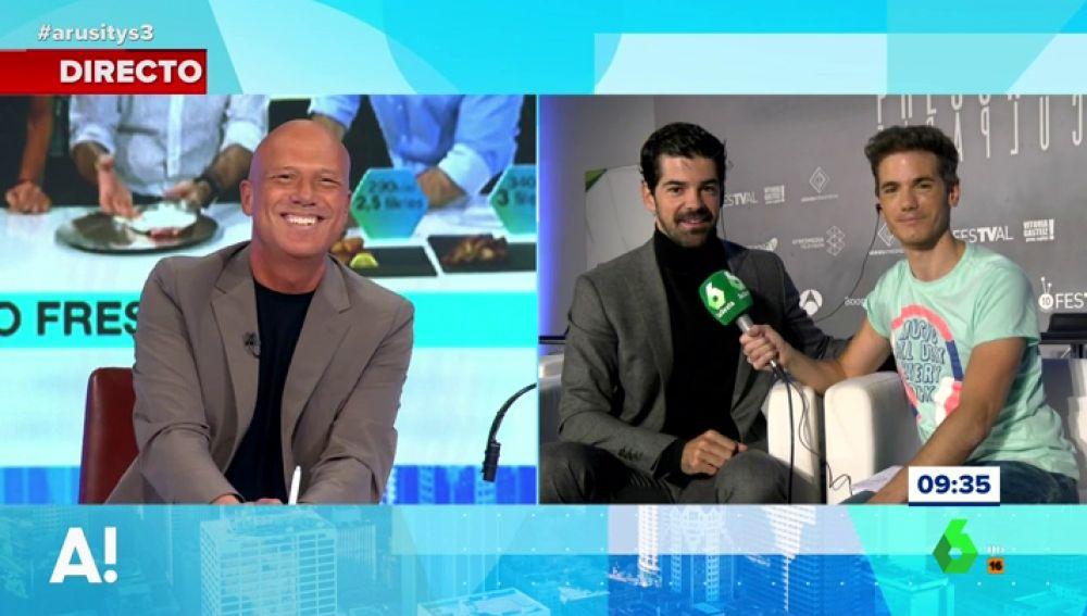 Alfonso Arús habla con Miguel Angel Muñoz