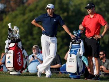 Sergio García durante un partido de golf