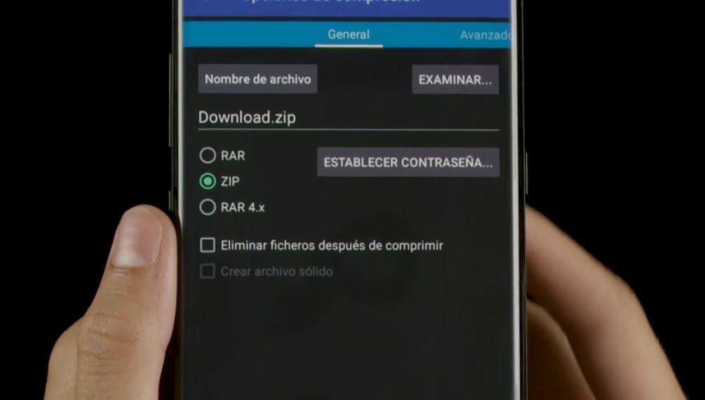 Te enseñamos a comprimir archivos en formato ZIP en Android