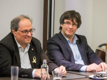 Quim Torra con Carles Puigdemont