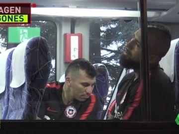 Arturo Vidal ha abandonado cojeando el entrenamiento de Chile