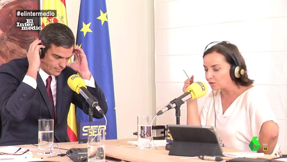 Pedro Sánchez en una entrevista con Pepa Bueno