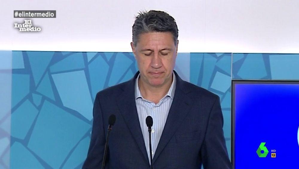 Xavier García Albiol durante una rueda de prensa