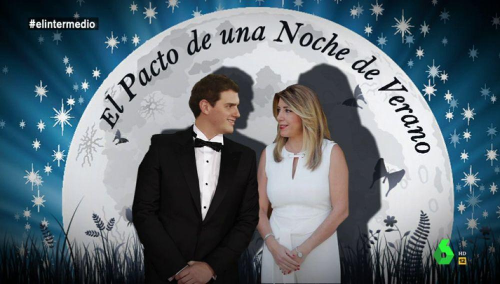 """El Intermedio presenta 'El Pacto de una Noche de Verano': """"el papel de Rivera está al nivel de otras actuaciones como 'no soy de derechas, soy de centro'"""""""
