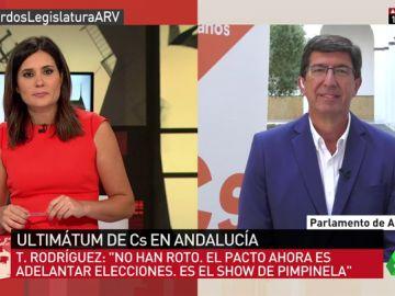 """Juan Marín: """"No tenemos pactado el adelanto electoral con el PSOEA, PP y Podemos sí han montado un 'show'"""""""