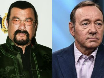 Los actores Kevin Spacey y Steven Seagal