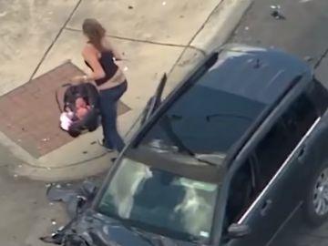 Persecución mujer Texas