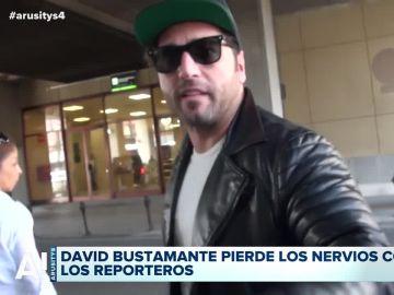 David Bustamante se encara a los reporteros