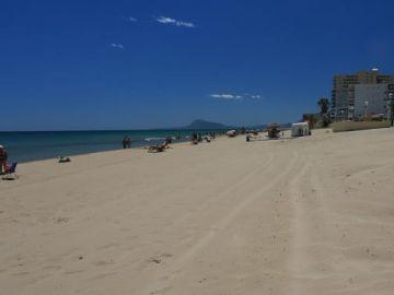Imagen de la playa de Bellreguard