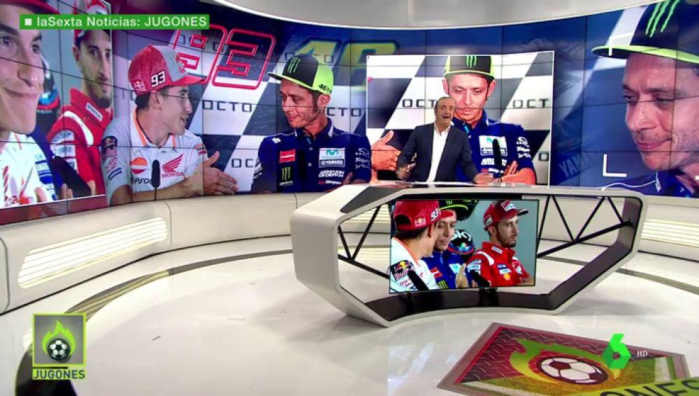 Rossi se negó a darle la mano a Marc Márquez