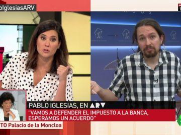 """Pablo Iglesias: """"Es un escándalo el IVA de los productos de higiene femenina, hay que bajarlos al 4%. Son productos de primera necesidad"""""""