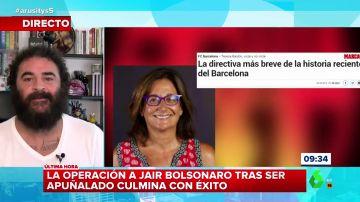 """El chiste de El Sevilla con el que explica (y resume) la """"brevísima"""" historia de la directiva del Barça Teresa Basilio"""
