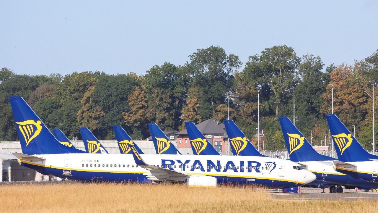 Imagen de archivo de aviones de Ryanair