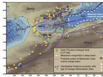 Archipiélago hundido en el Mar de Alborán