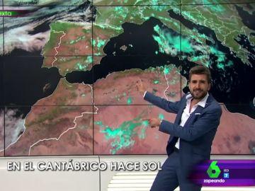"""Adrián Cordero da el tiempo cantando por Nino Bravo: """"Cantaré la meteo por ti aún a riesgo de que me puedan despedir"""""""