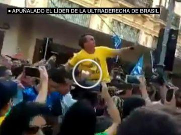 El impactante vídeo del apuñalamiento al candidato ultraderechista Jair Bolsonaro