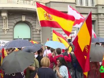 Manifestación contra la exhumación de Franco
